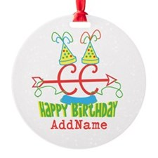 CUSTOMIZE Cross Country Birthday Keepsake Ornament
