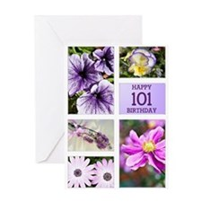 101st birthday lavender hues Greeting Card