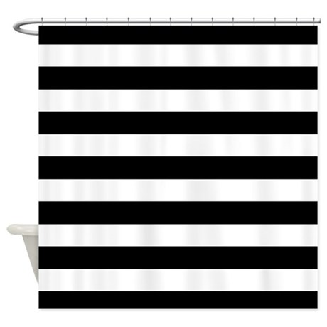 ... Gifts > Black Bathroom Décor > Black and white Stripe Shower Curtain