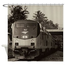 Funny Steam trains Shower Curtain