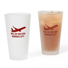 Bro, Do You Even Generate Lift? Drinking Glass