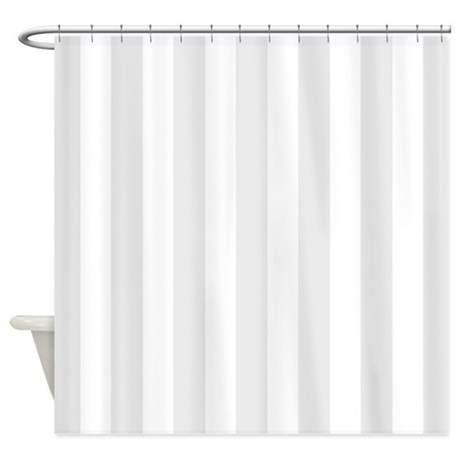 grey and white vertical stripes shower curtain by