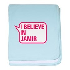 I Believe In Jamir baby blanket