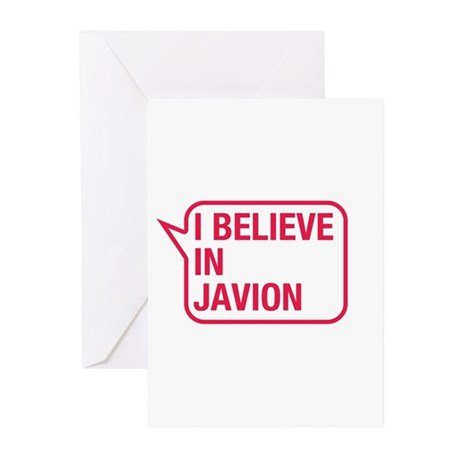 I Believe In Javion Greeting Cards (Pk of 10)
