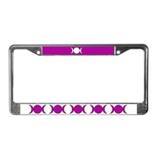Purple Triple Moon License Plate Frame