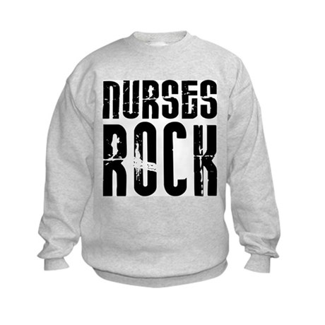 Nurses Rock Kids Sweatshirt