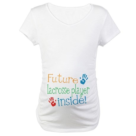 Lacrosse Player Maternity T-Shirt