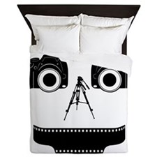 PHOTOGRAPHER FACE Queen Duvet