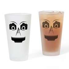 PHOTOGRAPHER FACE Drinking Glass