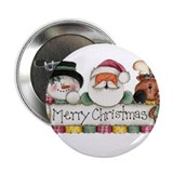 Merry Christmas Trio Button
