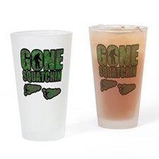 Gone Squatchin woodlands Drinking Glass