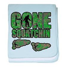 Gone Squatchin woodlands baby blanket