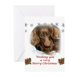 Unique Chocolate dachshund Greeting Cards (Pk of 10)