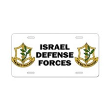 Cute Idf Aluminum License Plate