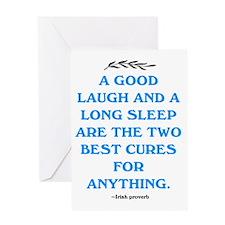 GOOD LAUGH - LONG SLEEP Greeting Card