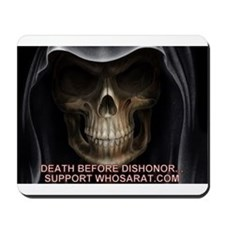 Skull Death Before Dishonor Mousepad