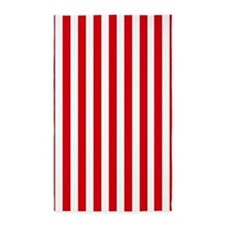Red and white vertical stripes 3'x5' Area Rug