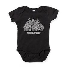 White Castle, Custom Text. Baby Bodysuit
