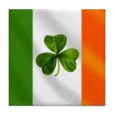 Irish Shamrock Flag Tile Coaster