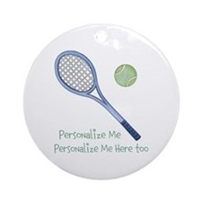 Personalized Tennis Ornament (Round)