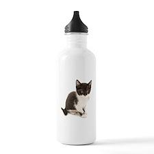 Cute Tuxedo Kitten Water Bottle
