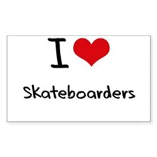 I Love Skateboarders Decal