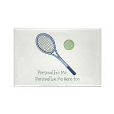 Personalized Tennis Rectangle Magnet (10 pack)
