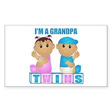 I'm A Grandpa (TBG:blk) Rectangle Decal