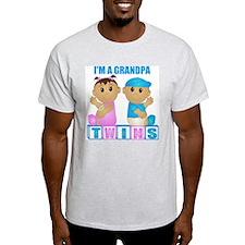 I'm A Grandpa (TBG:blk) Ash Grey T-Shirt