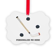 Personalized Hockey Picture Ornament