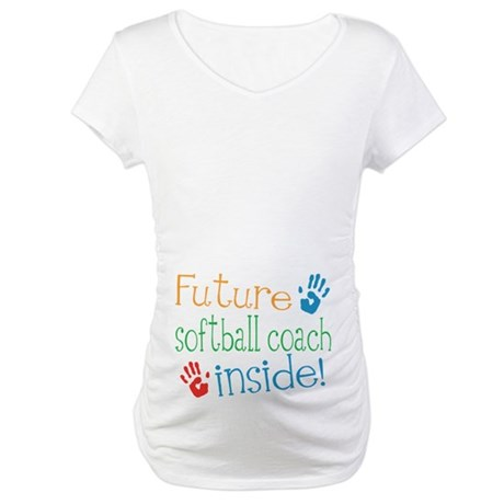 Softball Coach Maternity T-Shirt