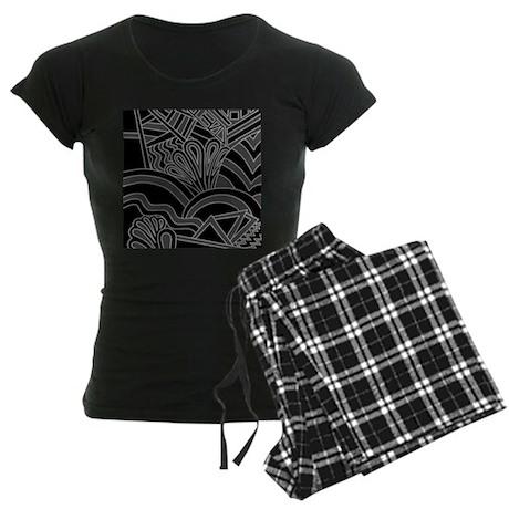 Black Art Deco Style Pattern. Pajamas