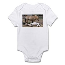 """Fjord mare & foal"" Infant Bodysuit"