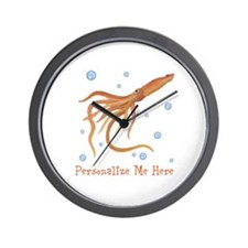 Personalized Squid Wall Clock