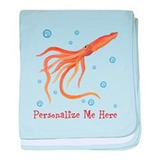 Personalized Squid baby blanket