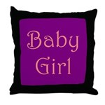 Baby Girl's Room Throw Pillow