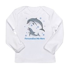 Personalized Dolphin Long Sleeve Infant T-Shirt