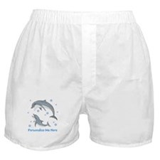 Personalized Dolphin Boxer Shorts