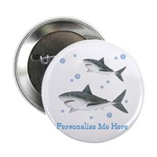 """Personalized Shark 2.25"""" Button"""