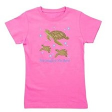 Personalized Sea Turtles Girl's Tee
