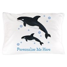 Personalized Killer Whale Pillow Case