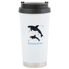 Personalized Killer Whale Ceramic Travel Mug