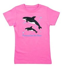 Personalized Killer Whale Girl's Tee