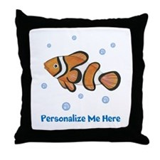 Personalized Clown Fish Throw Pillow