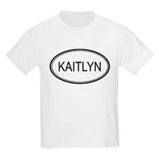 Kaitlyn Oval Design Kids T-Shirt