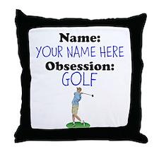 Custom Golf Obsession Throw Pillow