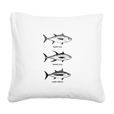 Tuna Species Logo Square Canvas Pillow