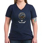 Badge - Clelland Women's V-Neck Dark T-Shirt