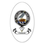 Badge - Clelland Sticker (Oval 50 pk)