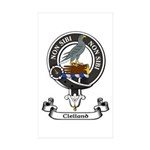 Badge - Clelland Sticker (Rectangle 50 pk)